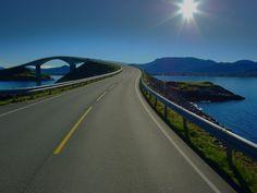 Norway Bridge Atlantic Ocean Road - https://www.wheelstreet.in/blog/the-10-best-bike-trips-in-the-world/