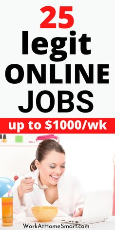Looking for legitimate online jobs that pay fast? Grab this list of genuine work from home jobs that pay weekly. Start earning today! Legitimate Online Jobs, Legit Online Jobs, Legitimate Work From Home, Legit Work From Home, Work From Home Jobs, Work From Home Companies, Earn Money Online, Digital Marketing, Make Money Online