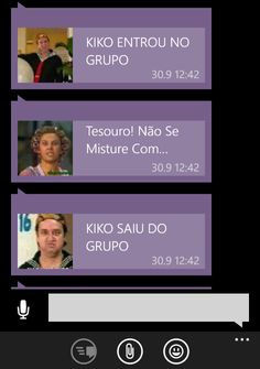 kiko entrou no grupo do whatsapp