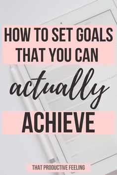 Find out how to set goals that you can actually achieve. Use the SMART goal setting method to set goals that you are achievable goals. These goal setting tips will help you to reach your goals.   #goalsettingtips #smartgoals #howtosetgoals Smart Goal Setting, Setting Goals, Achieving Goals, Achieve Your Goals, Set Your Goals, How To Set Goals, Productivity Challenge, Work Goals, Goal Setting Worksheet