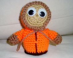 South Park Actor Kenny Crochet Toys in Orange Fall by earflaphats, $22.00
