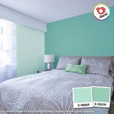 El color turquesa es muy utilizado en las habitaciones para dar una sensación de paz y tranquilidad al ambiente. Refleja frescura y la naturaleza. Es una gran opción para elegir en sus diferentes tonalidades, ya sean claras u oscuras. #Hogar #HomeDecor #Interiorismo #Colorful #Cozy