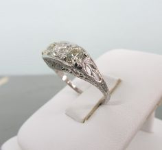 Antique Engagement Ring Art Deco Ring by FergusonsFineJewelry, $4,500.00