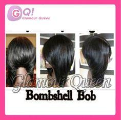 Sexy bob cut wigs!Brazilian virgin hair glueless u part bob wig short style130 density 100 human hair upart wigs for black women