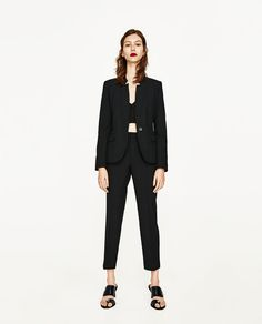 ZARA - WOMAN - INVERTED LAPEL BLAZER