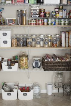 Kitchen Pantry Organization on a Dime   Free Printable Labels by Tabitha Blue