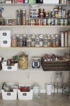 Kitchen Pantry Organization on a Dime   Free Printable Labels by Tabitha Blue