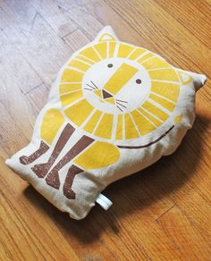 Screen printed pillow