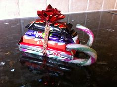 Candy cane sleigh. These were a great seller at the craft fairs!