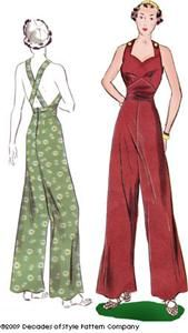 1930s Sweetheart Overalls by Decades of Style Patterns  I wish i could wear these.. but alas... bra straps...