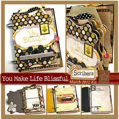 Scrapbook Papercraft Pre-Designed Project Kits: ScrapScription - Scrapbooking Kit Club and Papercrafting Project Kits