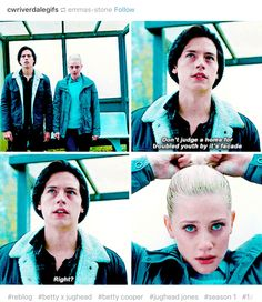 I love how Betty tightens her ponytail as an anxiety response. That was very well thought out.
