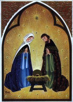 Old Christmas Post Сards — Holy Family (719x1000)