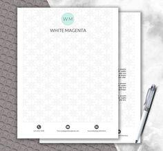 Pattern Letterhead Template Fashionable Design Stationery