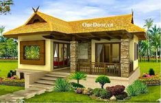 Filipino house design pictures photos of small beautiful and cute bungalow house design ideal for filipino . Simple Bungalow House Designs, Bungalow Haus Design, Small Bungalow, Simple House Design, Bungalow House Plans, Cottage Design, Modern House Plans, Tiny House Design, Modern House Design
