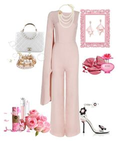 """""""Pastel pink Summer"""" by poshbella ❤ liked on Polyvore featuring Oscar de la Renta Pink Label, Chanel, Prada and Marc Jacobs"""