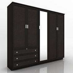 Furniture Design Almirah 5 door wooden designer wardrobe | wood project | pinterest