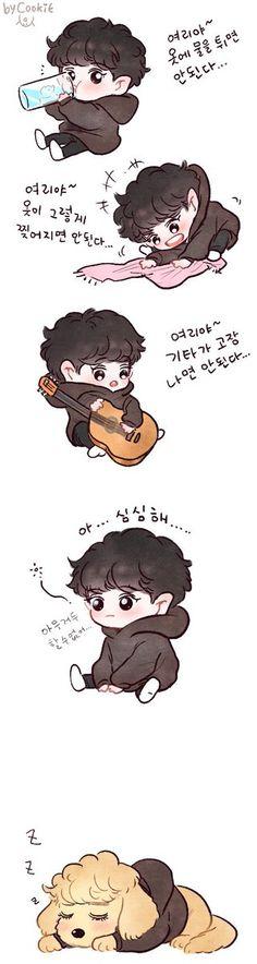 Chanyeol 쿠키  @yooocookie Chanbaek Fanart, Exo Chanbaek, Kyungsoo, Exo Cartoon, Cartoon Art, Exo Kokobop, Park Chanyeol, 5 Years With Exo, Exo Red Velvet