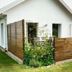 Villa Varm gör även putsade hus! Detta står i Ystad och fasaden har liggande panel på vissa delar.