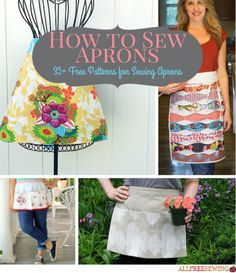 Learn how to sew aprons with this massive DIY tutorial collection. There are so many kitchen ideas and they make the perfect gifts!