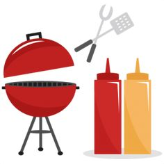 BBQ Set SVG cutting files summer svg cut files grill svg files ketchup mustard cut files free cuts for cricut