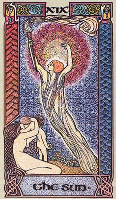XIX. The Sun - Celtic Tarot by Courtney Davis & Helena Paterson