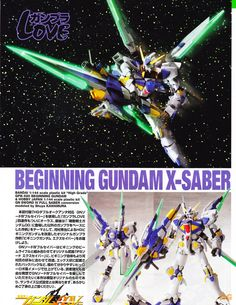 1/144 Beginning Gundam X-Saber Custom Build - Gundam Kits Collection News and Reviews