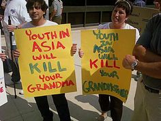 Funny Political Protest Signs: Youth in Asia