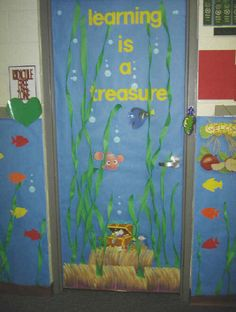 Learning is a treasure preschool classroom decor disney ocean bulletin board themes
