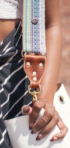 Bohemian Guitar Strap Style Handbag Strap Adjustable Bag Strap for handbags,