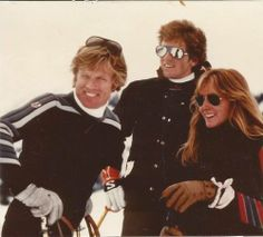 Robert Redford with his children Jamie and Shauna