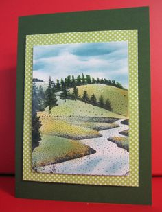 Handmade Card Any Occasion of rolling hills