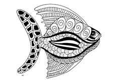 Big Fish Zentangle Style Step The Gallery AnimalsArtist Olivier