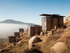 Valle de Guadalupe, Baja California, a collection of 20 modern mini cabins....What a view!