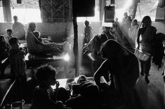 """Refugee Camp in Krishnanagar, north of Calcutta, at the time of partition between West and East Pakistan, 1971 """"Marc Riboud"""" Marc Riboud, New Delhi, Calcutta, East Pakistan, Cinematic Photography, Moving To Paris, Varanasi, Magnum Photos, Partition"""