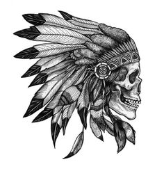 Indian Headdress skull