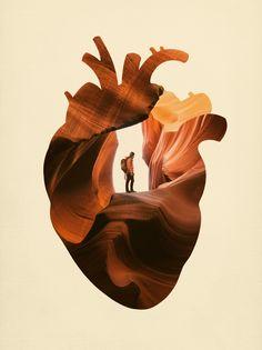 heart, nature, hiking, grand canyon, explorer, surreal