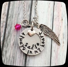 Always  in my Heart, Memorial Jewelry, Loss of Mother, Loss of Father, Remembrance Gift Necklace, Funeral Gift, Memorial Gift