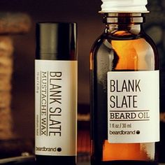 For those of you with a sensitivity to fragrance or just don't want a scent near you nose ... Now you can still have a soft , shiny , healthy beard and controlled mustache with Blank Slate by Beardbrand #beards #mustache #mensgrooming #beardbrand