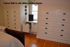 Built-in dressers and hamper