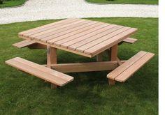 Picknicktafel voor 8 personen in bangkirai | Jadimex