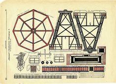 Part 2 - Vintage Ferris Wheel carnival paper toy from Illustreret Familie Journal by pilllpat (agence eureka), via Flickr.  Large download at http://www.flickr.com/photos/taffeta/3360768141/sizes/o/in/set-72157614068345415/#