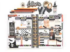 Halloween week in the CLASSIC 'Botanical Garden' Happy Planner™ of mambi Design Team member Mary-Ann Maldonado | me & my BIG ideas