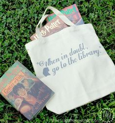 Hermione Library Tote - quote from Harry Potter and the Chamber of Secrets Harry Potter Drinks, Harry Potter Theme, Harry Potter Birthday, Harry Potter Diy, Best Harry Potter Fanfiction, Library Bag, Teen Library, Library Ideas, Harry Potter Collection