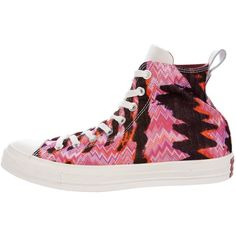Pre-owned Missoni x Converse Pattern High-Top Sneakers (£58) ❤ liked on Polyvore featuring shoes, sneakers, burgundy, high-top sneakers, burgundy shoes, high top trainers, converse sneakers and colorful high top sneakers