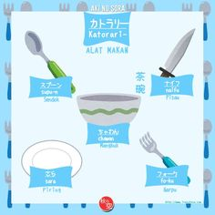 cutlery 1 Study Japanese, Japanese Names, Japanese Words, Japanese Language Learning, Learning Japanese, Japanese Course, All About Japan, Picture Dictionary, Language Study