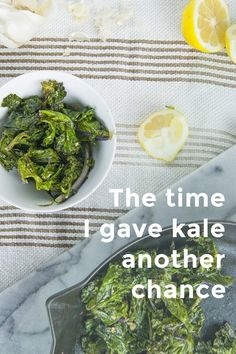 The time I gave kale another chance Is kale still hot stuff or is that so 2013? The last time I made kale was in 2013, my sophomore year of college, but never kale just by itself. Since then, I haven't touched the leafy green. Most definitely not in salad