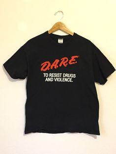 Vintage 90s Dare Shirt, Dare Shirt, 90s t-shirt, grunge shirt, soft grunge, pastel goth, unisex shirt, large