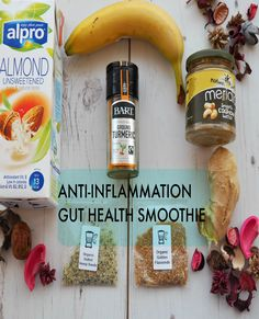 This smoothie is perfect for those wanting to improve their gut health. It is a crohn's disease smoothie recipe that is ant-inflammatory. Perfect smoothie for IBD, IBS and to improve your gut health. Easy to digest smoothie with turmeric, almond milk, gin Smoothies With Almond Milk, Healthy Smoothies, Healthy Drinks, Smoothie Recipes, Healthy Recepies, Healthy Shakes, Green Smoothies, Anti Inflammatory Drink, Ibs Diet
