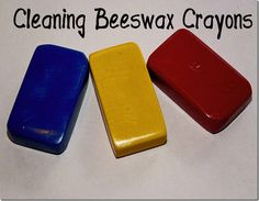 How to Clean Beeswax Crayons...need this